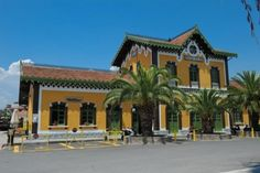 Railway station of Volos town, Magnesia region Thessaly, Greece Travel Around The World, Around The Worlds, Old Train Station, Amazing Destinations, Greece, Mansions, House Styles, Places, Home Decor