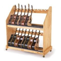 Kickstarter project (met) for ukulele rack based on guitar rack