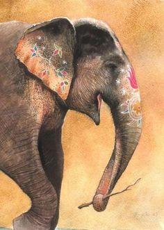 Indian Elephant | http://delusionalillusionsoflove.tumblr.com/