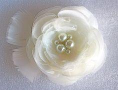 Wedding hair accessories/ wedding hair flower/ bridal hair flower/ fabric flower