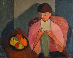 'The Knitter', 1952 - Kerinec Roger (1917—2001)