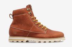 Volcom Smithington — vysoké pánské zimní boty, kožené, hnědé, winter boots #winter #boots #mens #brown #leather