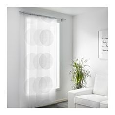 IKEA - SEMINE, Panel curtain, A panel curtain is ideal to use in a layered window solution, to divide rooms or to cover open storage solutions.Can be easily cut to the desired length without hemming.