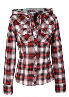 Hooded Plaid Shirt - holy crap I want this, so cute!
