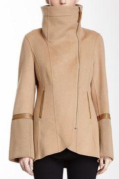 HauteLook | Mackage: Eloise Funnel Neck Wool Blend Coat