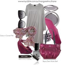 """Colour in Concert Pink Scarf & Reyna Demi Miche Shell"""" by mcshanes on Polyvore"""