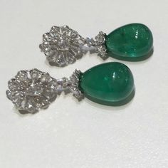 Emerald drop earrings #zümrüt #küpeler #mücevher #smaragd