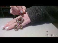 orecchini goccia brick stitch - YouTube