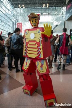 hahahaha! this would be awesome to go to a convention as! I like the Iron Man idea, but maybe choose something else :)                                                                                                                                                                                 More