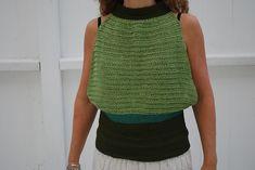 Ravelry: Sleeveless summer top pattern by Julie Berg Crochet Hooks, Crochet Top, Chrochet, Top Pattern, Ravelry, Summer, Inspiration, Ideas, Tops