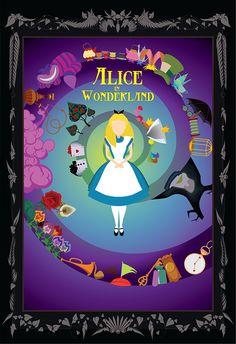 Alice in Wonderland Poster on Behance