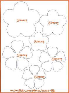 Risultati immagini per templates wafer paper flowers Giant Paper Flowers, Felt Flowers, Diy Flowers, Fabric Flowers, Paper Flower Patterns, Felt Patterns, Felt Crafts, Diy And Crafts, Paper Crafts