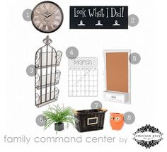 Command center {for all that school work and such} by @Bri Moysa Of Emerson Grey Designs #bloglovin! #backtoschool