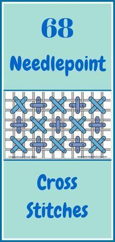 68 Needlepoint Canvas Cross Stitches