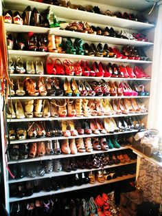 i will have a shoe closet as full as this one day. bring out the inner carrie bradshaw