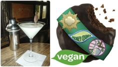 This Dirty girl scout martini with organic vodka and thin mints is vegan | Grown Up Drinks To Pair With Girl Scout Cookies For Your Green Wedding