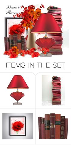 """""""Books and Flowers"""" by neicy-i ❤ liked on Polyvore featuring art"""