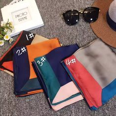 Luna&Dolphin 2017 Fashion 70x70cm Satin Square Twill Silk Scarves Lady Multicolor NeckerChief Office Lady Mother's Day Gift