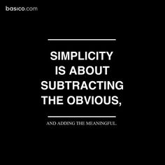 simplicity #quotes