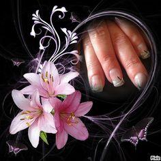 french grise irisée deco rose, noir et blanc