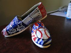 Texas Baseball Shoes. $120.00, via Etsy.