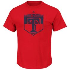 Texas Rangers Majestic Pass Through T-Shirt - Red - $20.99