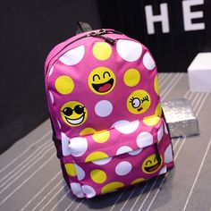 NEW Smiley Emoji Backpack Funny Emoticon Pack School Shoulder Bag Boys Girls Women's Backpacks For Teenagers School Bags