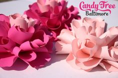 Small paper flowers table decor by CandyTreeBaltimore on Etsy
