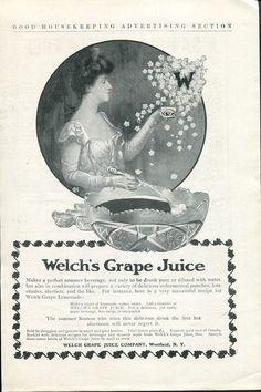 Original Vintage 1905 Welch's Grape Juice Company Westfield NY Print Ad Advert