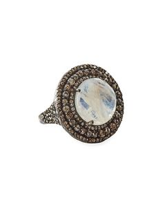 Bavna Moonstone Marquise Ring, Size 7