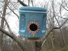 birdhouse from recycled plastic coffee cans - Yahoo Image Search Results