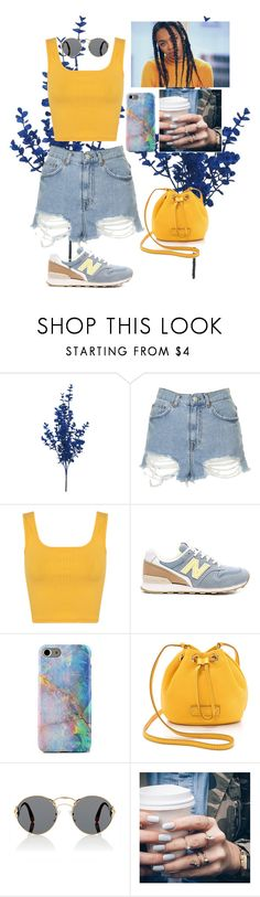 """""""Untitled #541"""" by mariabelentza ❤ liked on Polyvore featuring Topshop, Miss Selfridge, New Balance, Marc by Marc Jacobs, Prada and Floss Gloss"""