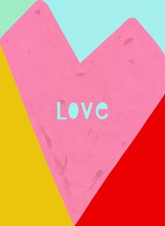 Love large poster/ art print A3 size