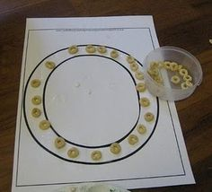 Perfect for toddlers - little ones can place cheerios on the O  or circle Shape!  ( or eat them if they like) don't have to use glue/paste