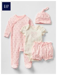 Spring florals take-home set - Perfect starting set to take baby home-sweet-home.