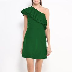 Summer Sexy One Shoulder Party Dress Casual Beach Mini SunDress