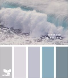 pretty blues and greys. Bathroom colour scheme