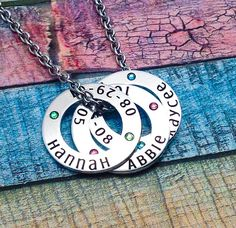 Mom pendant necklace, Personalized pendants, Personalized family necklace, mothers day necklace,  children's names, necklace with kids names