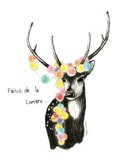 #illustration #deer #sketch #encres #draw #handdraw #dessin  #lucy #inzesky  #wattercolour