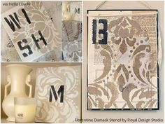 Hung up on stenciling - Wonderful wall art ideas  with Royal Design Studio wall stencils