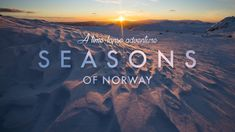 This timelapse shows Norways beauty over four seasons in 8K
