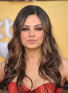Mila Kunis hair + eyes