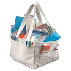 Featuring long straps and an array of pockets, this versatile tote is perfect for packing a picnic lunch or carrying art supplies to the pond.