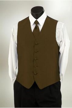 Cocoa Imperial vest and matching windsor tie from Tuxedo Junction