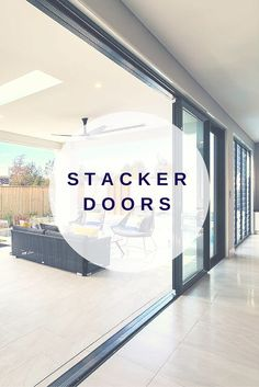Enjoy up to 4 meters of uninterrupted outdoor views, seamless transition from outside to in and flood your room with natural light and ventilation. Kitchen Sliding Doors, Sliding Wall, Sliding Glass Door, French Doors Patio, Patio Doors, Stacker Doors, Retractable Door, Door Decks, Internal French Doors