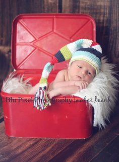Little Miss Frilly Seaside crochet elf hat by littlemissfrilly, $21.95