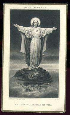 Domine non sum dignus Jesus E Maria, Linear Art, Heart Of Jesus, Jesus Cristo, Celestial, Sacred Heart, Doa, Vintage Antiques, Religion