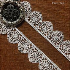 "1 Yard Black White Leaf Tassels Lace Trim Embroidery Lace Trim 5.11/"""
