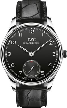 IW545407 NEW IWC PORTUGUESE HAND-WOUND MENS WATCH IN STOCK - Click to View Mother's Day Luxury Watch Sales Event - FREE Overnight Shipping | Lowest Price Guaranteed - No Sales Tax (Outside California)- With Manufacturer Serial Numbers- Black Dial - Manual Winding Movement- 3 Year Warranty- Guaranteed Authentic - Certificate of Authenticity- Stainless Steel Case - Black Leather Strap with Crocodile Pattern- Scratch Resistant Sapphire Crystal - Manufacturer Box