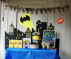 batman themed birthday party!